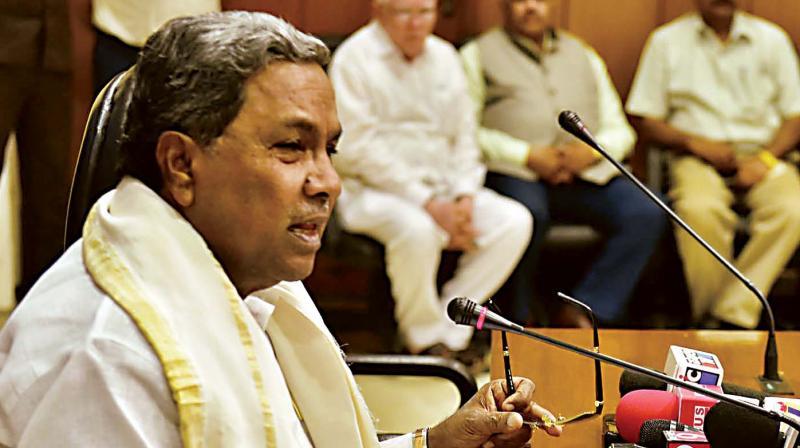 Chief Minister Siddaramaiah