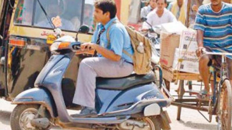 Instead of restraining their kids and warning them of the dangers, parents are encouraging them by buying them flashy bikes or cars. (Representational Image)