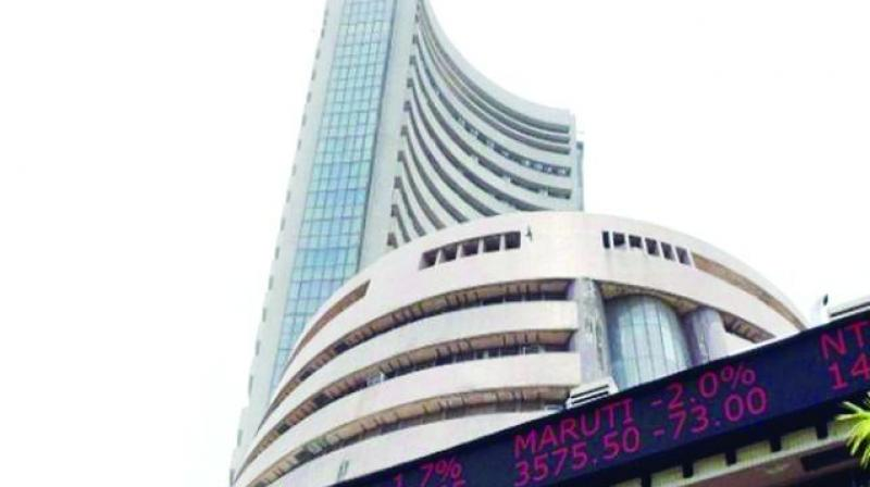 The broader NSE Nifty fell 73 points, or 0.61 per cent, to end at 11,840.45.