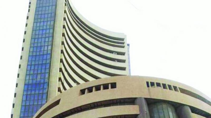 The broader Nifty was also quoting 177.65 points or 1.53 per cent down at 11,419.25.