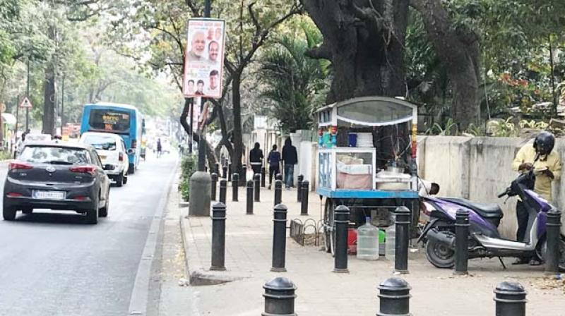 An encroached TenderSure footpath in the city. (Photo:DC)