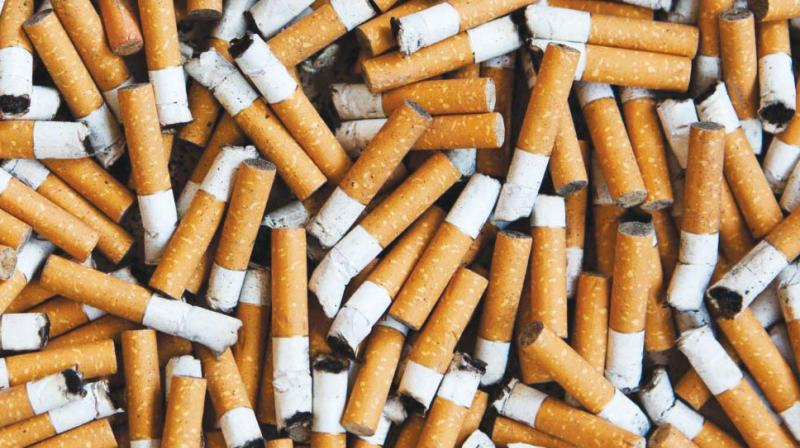 Despite a ban on sale of loose cigarettes and other tobacco products imposed by the state government.