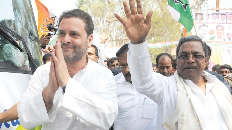 Congress President Rahul Gandhi had on Tuesday concluded his four-day tour in north Karnataka districts in the first leg of his campaign in the poll-bound state, during which he visited temples, mutts and Dargahs. (Photo: DC)