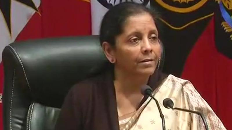 Defence Minister Nirmala Sitharaman said, 'Activities of terrorists in the hinterlands are severely curtailed due to relentless efforts of security forces.' (Photo: ANI)