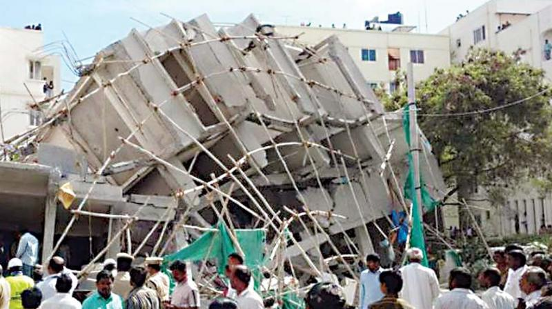 2 killed in under-construction building collapse