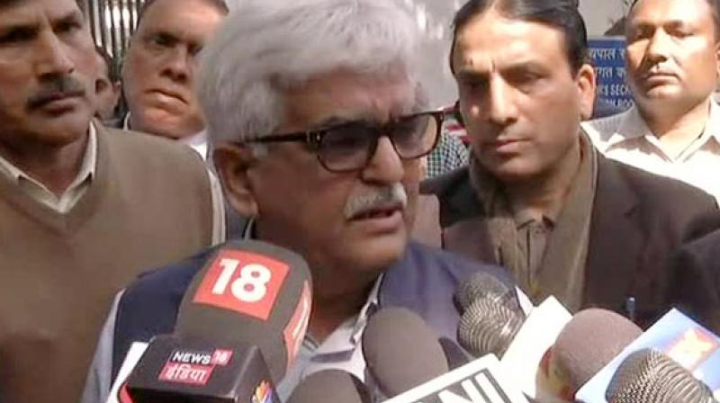 Delhi Administrative Subordinate Services president DN Singh said, 'We are going on a strike with immediate effect, we are with our Chief Secretary, until they (AAP MLAs) are not arrested we will not get back (to work).' (Photo: ANI)
