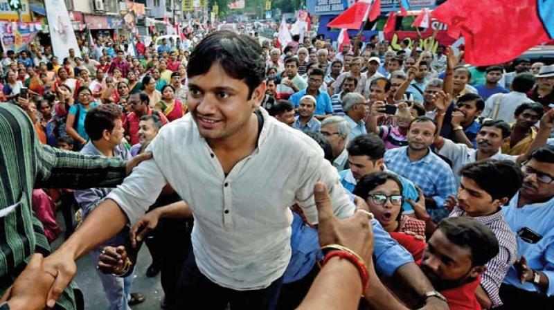 Student leader Kanhaiya Kumar at a rally.