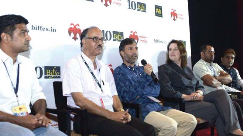 Israel Counsel General Dana Kursh chaired an interactive session at the 10th edition of the Bengaluru International Film Festival in Bengaluru on Monday