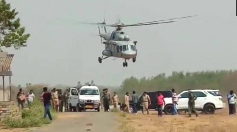 The bodies of the slain Maoists is being shifted to Bhadrachalam Hospital for postmortem. (Photo: ANI/Twitter)