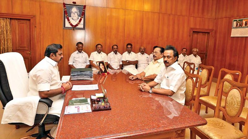 Cauvery issue: Stalin calls on TN CM