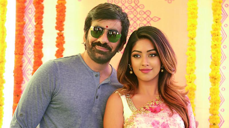Ravi Teja and Anu Emmanuel at the film's launch