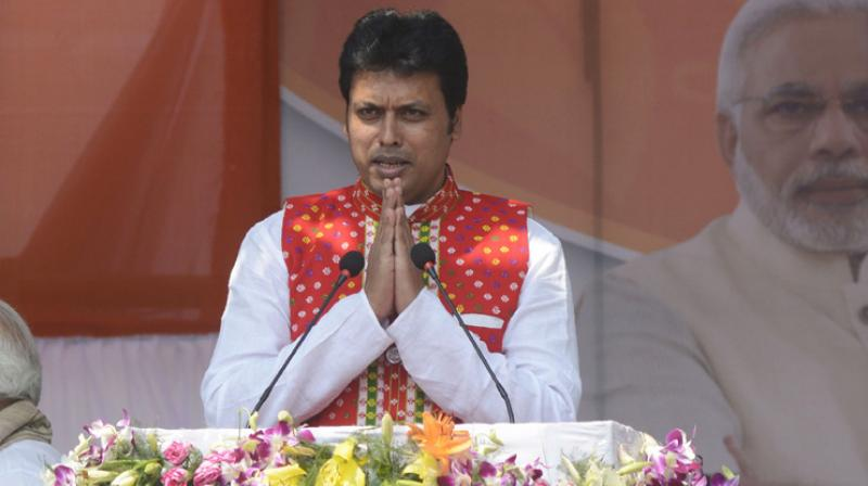 BJP Tripura in-charge Sunil Deodhar has urged newly sworn-in Tripura Chief Minister Biplab Kumar Deb to get the septic tanks of all ministers' quarters cleaned before these are occupied, as skeletons could be hidden there. (Photo: AFP)