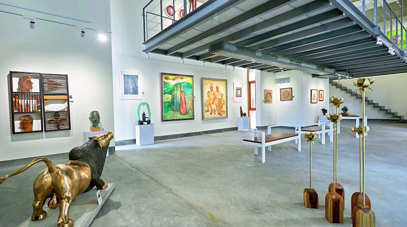 The interiors of the newly opened Gallery 78 at Kothaguda