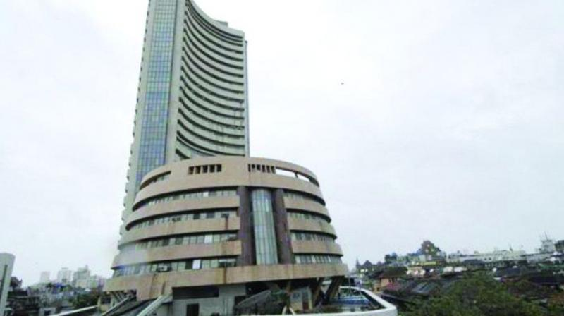 The broader NSE Nifty was also trading 2.05 points, or 0.02 per cent, up at 11,159.05.