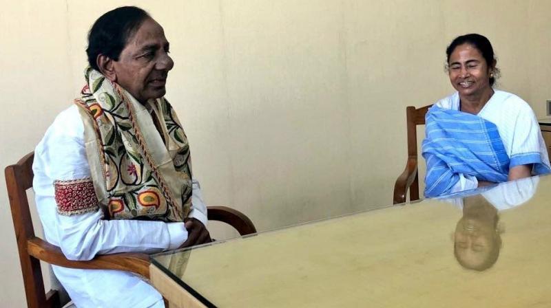 Image result for mamata chandrashekhar rao meeting