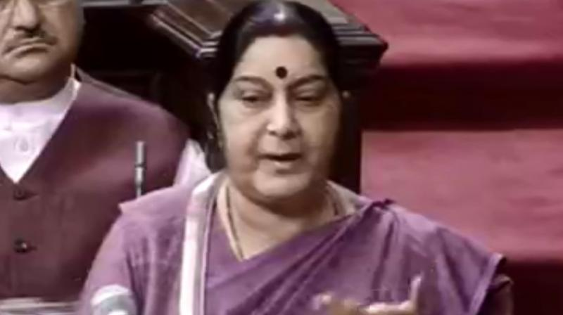 Sushma Swaraj on Thursday said in Rajya Sabha that there is no controversy in the matter, except in minds of the opposition party leaders. (Photo: File)