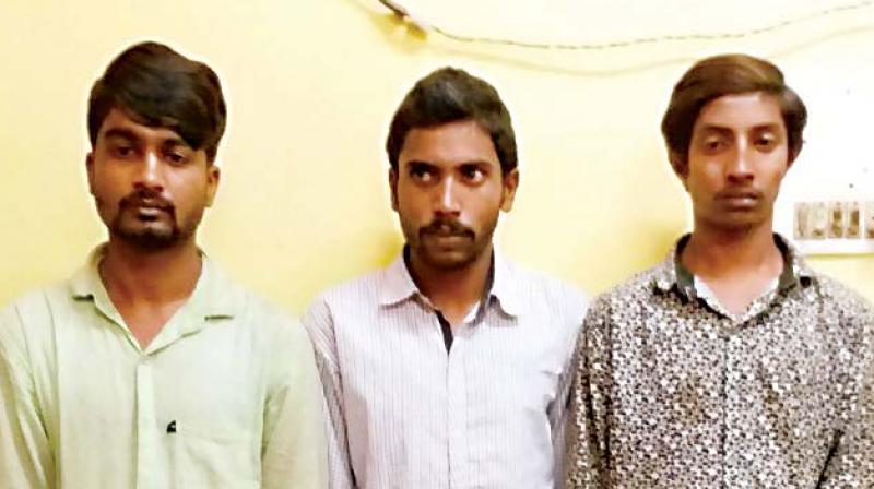 Girish, Ashish and Ashok, the three accused