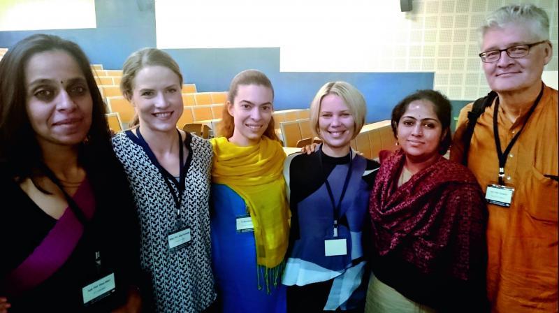 Left to right: Prof Vinoo Alluri, Prof Jonna Vuoskoski, Dr Iballa Burunat, Prof Suvi Saarikallio, Dr Shantala Hegde and Prof Petri Toiviainen