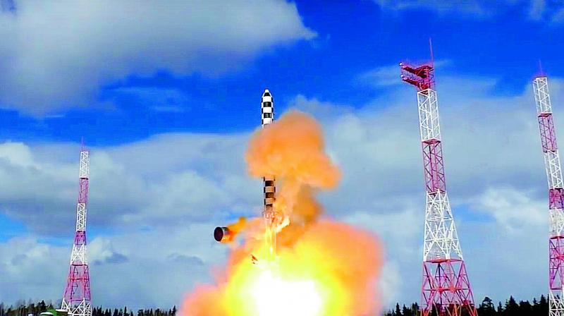 Russian Federation conducts 2nd test of heavy ballistic missile Sarmat