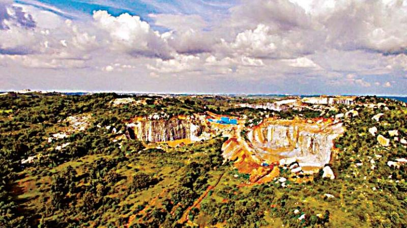 Mining activity going on near Bannerghatta National Park
