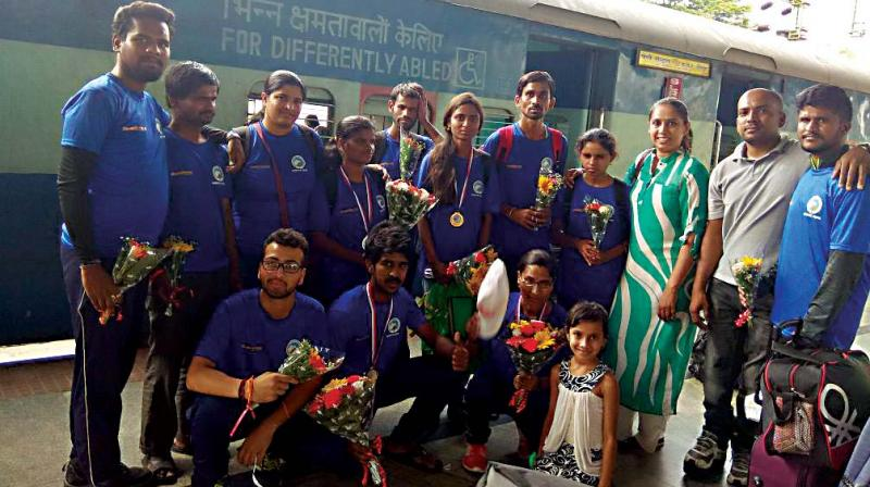 The Karnataka team that participated in IMF National Sports Climbing Championship