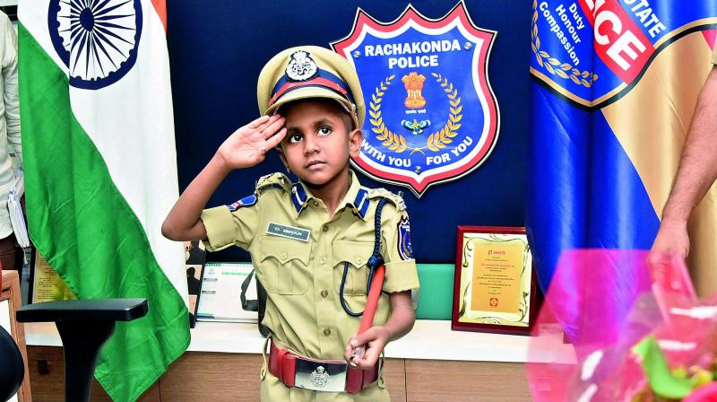 Six-year-old boy becomes Rachakonda Police Commissioner, for a day