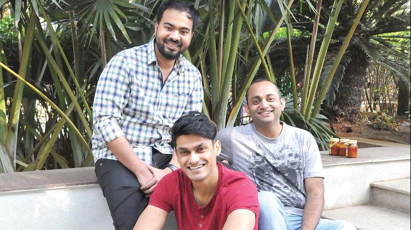 Amit Vadavi, Adarsh Muthana and Pronoy Roy