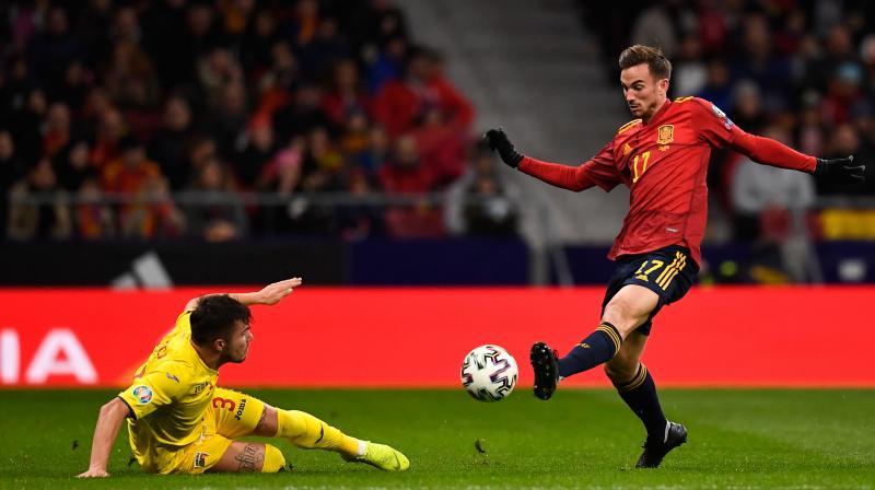Fabian Ruiz put Spain in front after eight minutes while forward Gerard Moreno struck twice and then forced an own goal from Romania's Adrian Rus before the break, with Mikel Oyarzabal hitting the fifth in second-half stoppage time. (Photo:AFP)