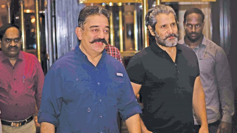 Kamal Haasan and Vikram