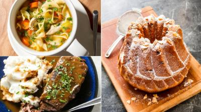 From Kugelhupf to the festve Monkey bread, pot roast and noodle soup, here are food shots to tantalise you. (Photos: AP)