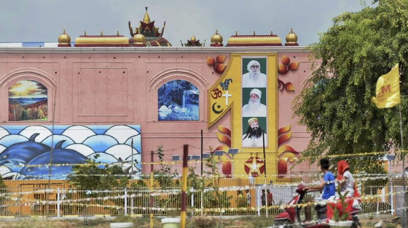 A view of the Dera Sacha Sauda headquarters in Sirsa on Tuesday, a day after its chief Gurmeet Ram Rahim Singh was sentenced 10 years in jail in each of the two rape cases against him. (Photo: PTI)