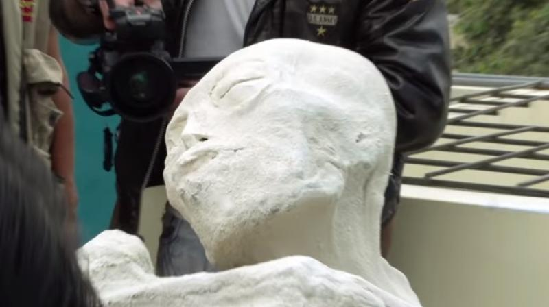 One of the mummies, known as Maria, was found by a team led by controversial Mexican journalist Jamie Maussan in early 2017. (Youtube Screengrab/ Gaia)