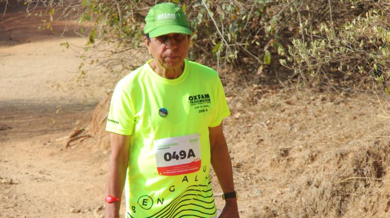 BS Srikanth at the Oxfam Trailwalker. (Photo: File)