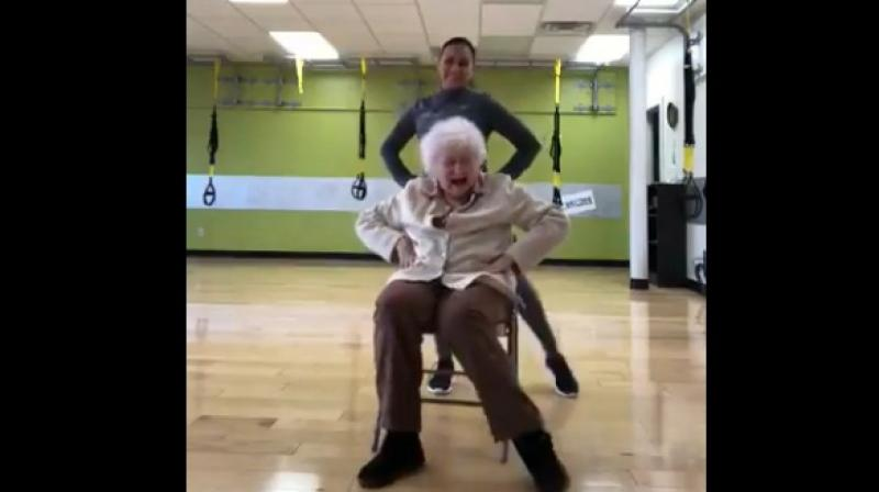 Internet can't handle 93-year-old's workout routine