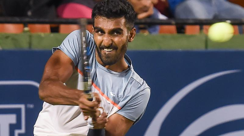 Prajnesh is only third Indian in five years to feature in the men's singles main draw of a Grand Slam, the other being Somdev Devvarman and Yuki Bhambri. (Photo: PTI)