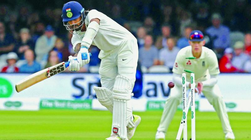 India opener Murali Vijay is castled by James Anderson during the second day of the second Test at Lord's in London on Friday.  (Photo:AP)