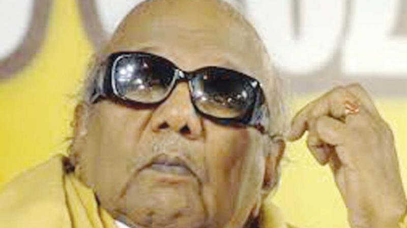 DMK Chief M Karunanidhi died on August 7, in Chennai, following a brief illness. (Photo: File)