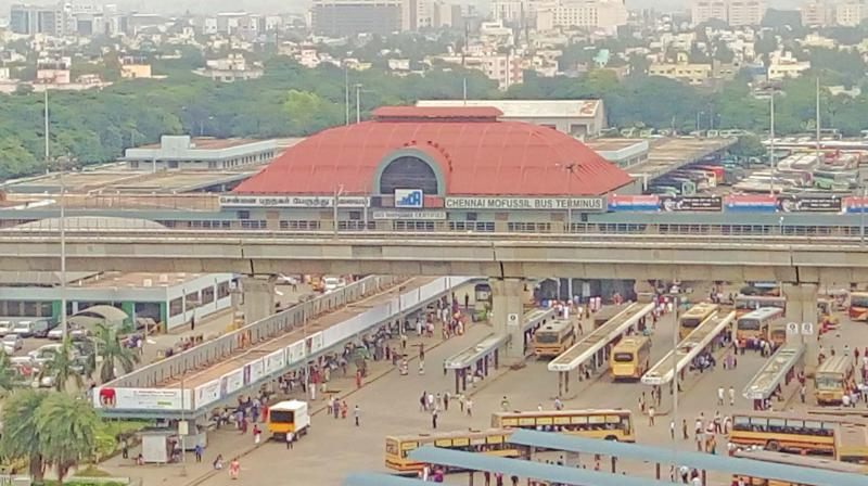 Metropolitan Transport Corporation (MTC) buses have been instructed not to enter Chennai Mofussil Bus Terminus (CMBT) to put the grade separator work on fast track, the state highways (metro wing) has failed to speed up the work.