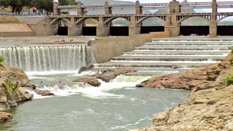 Water gushes out of Stanley reservoir in Mettur as PWD authorities stepped up discharge.  (Photo:DC)