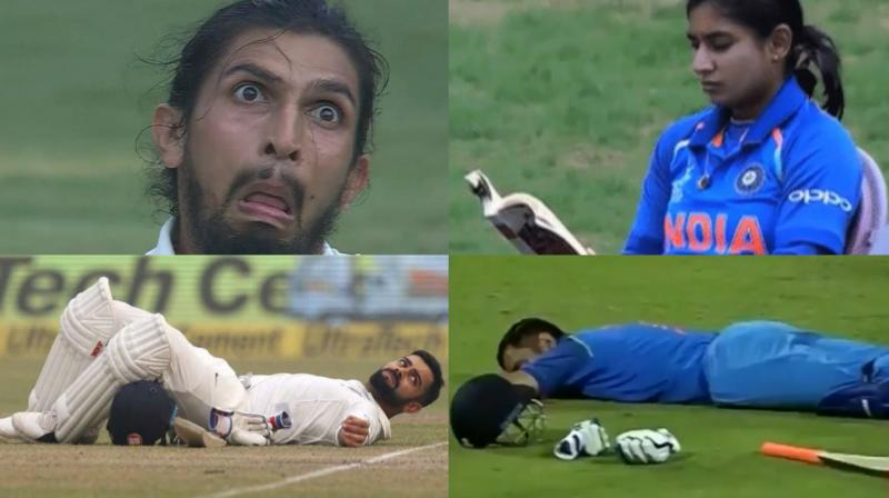 While Ishant Sharma set the ball rolling with his hilarious facial expression, which became a meme sensation, images of Mithali Raj nonchalantly reading a book before coming out to bat during the ICC Women's World Cup 2017, MS Dhoni taking a nap as Sri Lankan fans threw bottles on the field and Virat Kohli taking a break as smog drama unfolded during the India versus Sri Lanka New Delhi Test made the heads of Indian cricket fans turn in 2017. (Photo: BCCI / Screengrab)