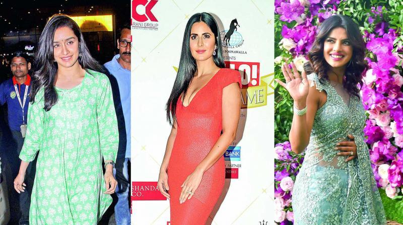 Shraddha Kapoor, Katrina Kaif, Priyanka Chopra
