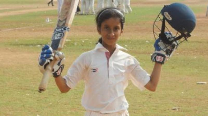 The versatile girl, who made the transition from plastic to the hard red ball soon after her fourth birthday, also has the distinction of having represented Mumbai at the U-17 level in hockey. (Photo: Instagram)