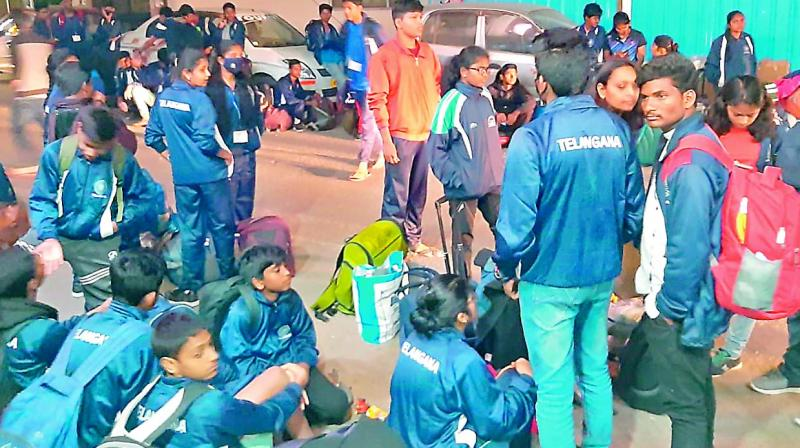 81 swimmers from Telangana were stranded in Delhi due to mismanagement