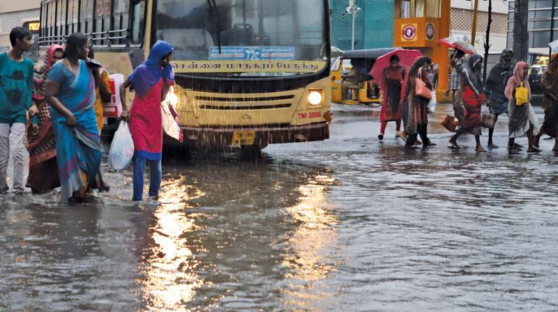 Chennai and adjoining areas such as Ennore, Kelambakkam and Mahabalipuram recorded five cm of rainfall each in the last 24 hours ending 8.30 am on October 31, as against one cm recorded the day before.