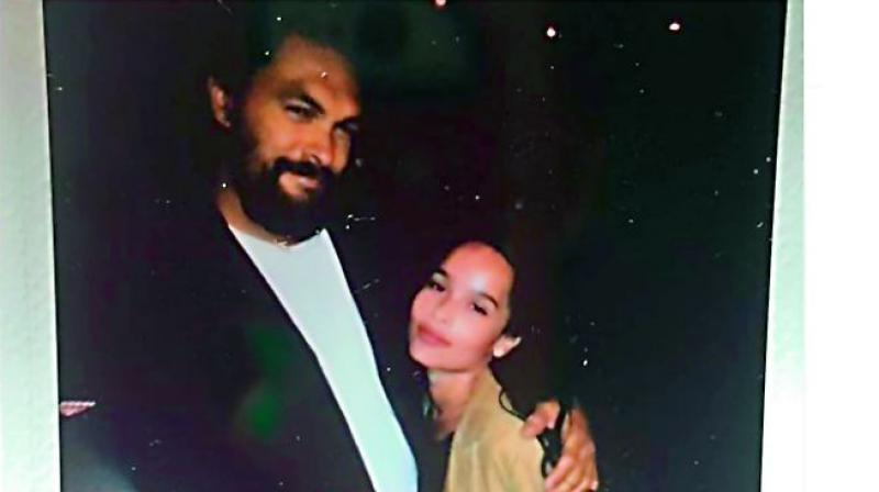 Jason Momoa, who is married to Zoe Kravitz's mom Lisa Bonet, took to Instagram on October 14 to share his thoughts on his step-daughter Zoe Kravitz being cast as Catwoman in The Batman. (Photo source instagram)