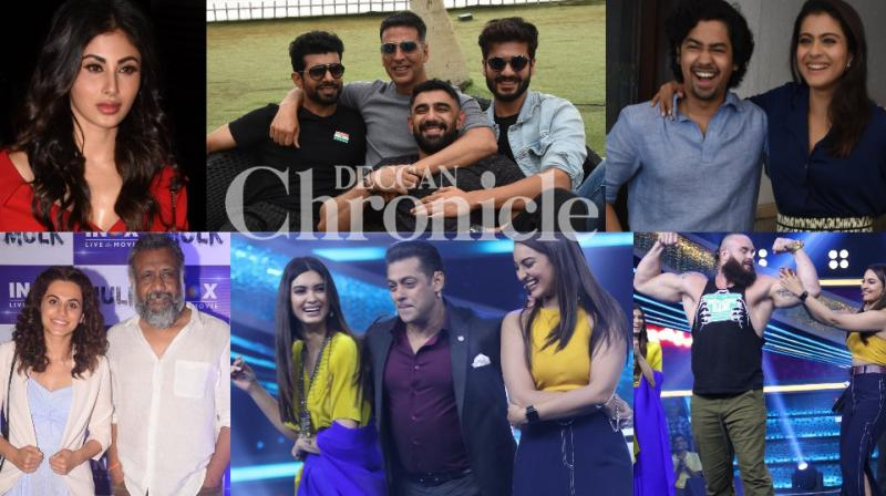 Bollywood stars lent support to their films with promotional activities in Mumbai on Tuesday. (Photos: Viral Bhayani)