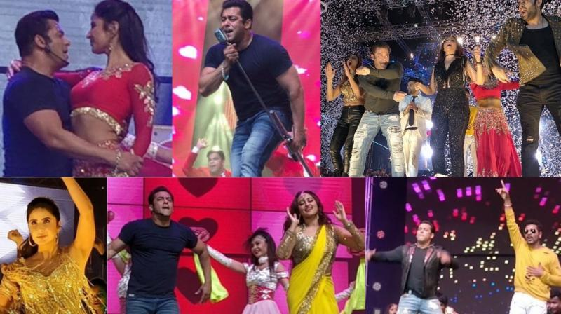 Salman Khan and a host of celebrities put an entertaining show for fans at the 'Da-Bangg' concert held in Pune on Saturday. (Photo: Twitter/ Instagram)