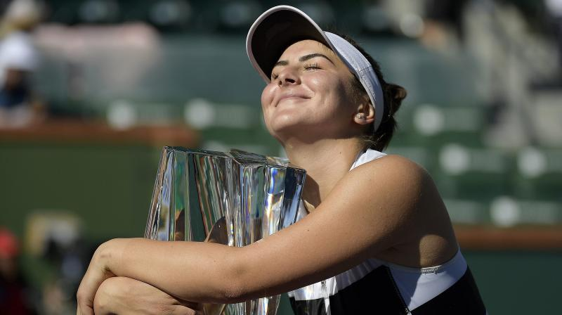 The 18-year-old dropped her racket and fell on her back when Kerber hit a backhand into the net on match point to deliver the tournament wildcard the victory. (Photo: AP/PTI)