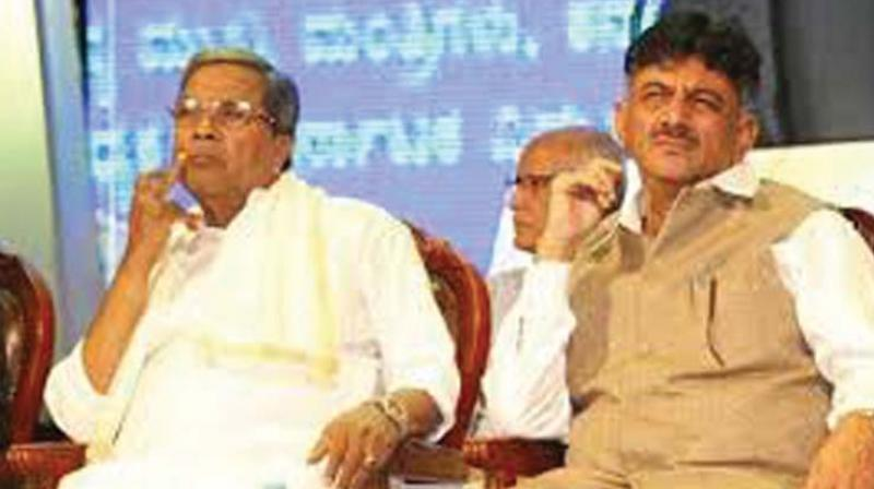 A file photo of  Siddaramaiah and D.K. Shivakumar