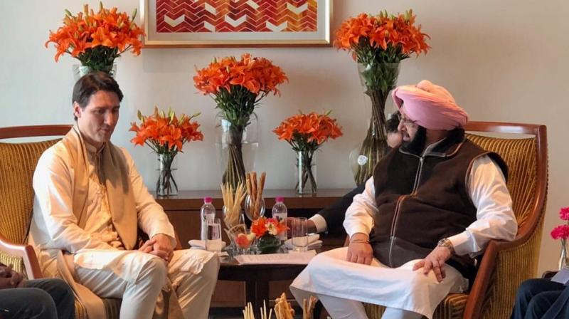 The Chief Minister had earlier refused to meet Trudeau, claiming the Canadian Prime Minister's cabinet members were connected and supported the formation of Khalistan, a separate Sikh state movement. (Photo: Twitter/@RT_MediaAdvPbCM)